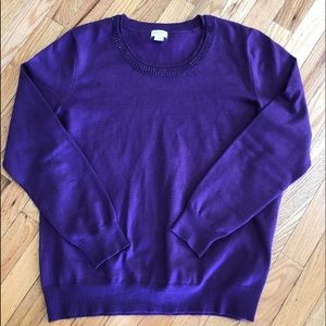 EUC  Jaclyn  Smith purple sweater XXL
